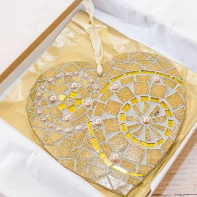 golden wedding heart