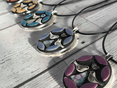 rainbow pendants